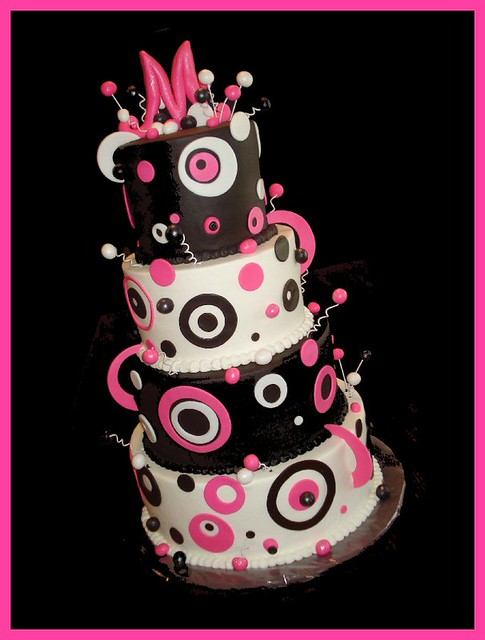 hot pink wedding cake ideas pink amp brown wedding cake a photo on flickriver 15341