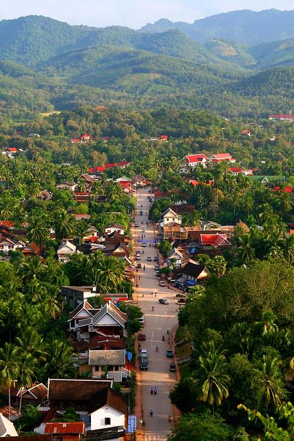 Bird's eye view of Luang Prabang – Laos