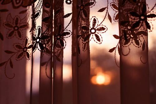 sunset abstract window 50mm evening pattern lace curtain august ukraine curtains gettys 1g vinnitsa throughthecurtain 400d gettyskn
