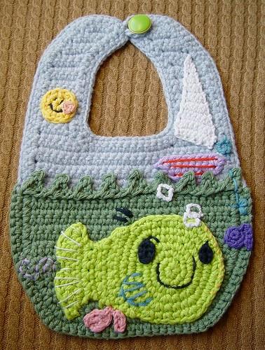 Crochet Arty The Smarty Baby Bib
