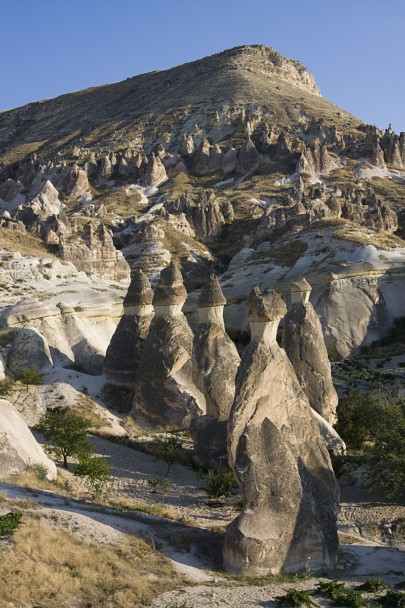 カッパドキアの不思議な岩岩の風景