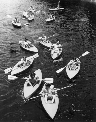 Pine Crest School students kayaking: Fort Lauderdale, Florida