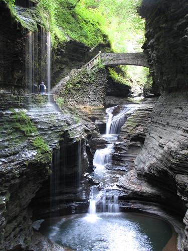 bridge waterfalls newyorkstate watkinsglen watkinsglenstatepark schuylercounty glenofpools