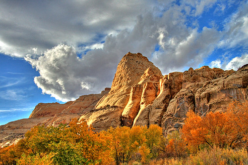 Clouds, Pyramid and Colour, Capitol Reef