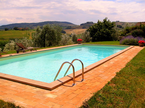 Tuscan villa pool