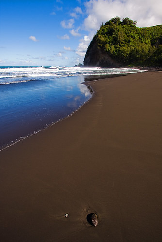 ocean beach clouds reflections hawaii rocks waves valley bigisland hamakua pololu 3604