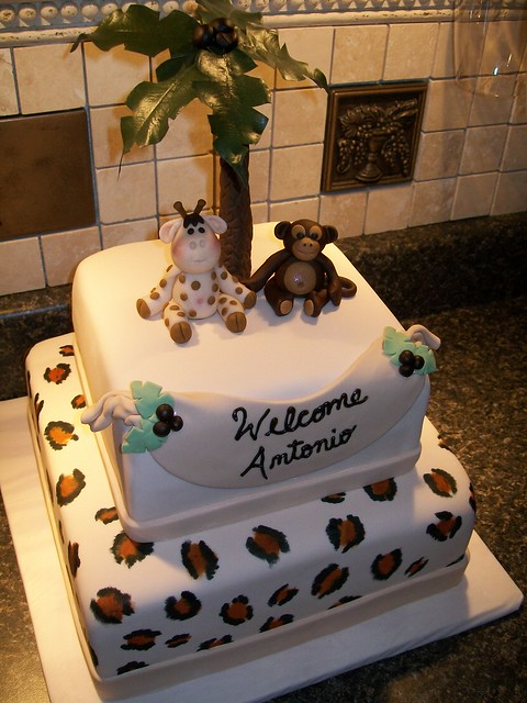 safari baby shower cake flickr photo sharing