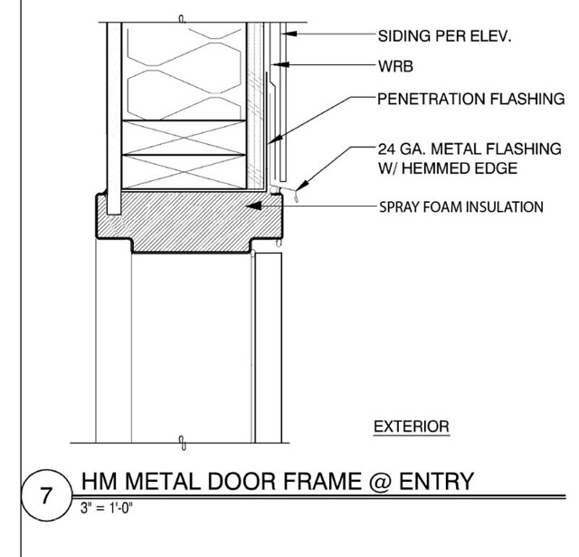 Hollow metal door as built head detail flickr photo for Door jamb detail