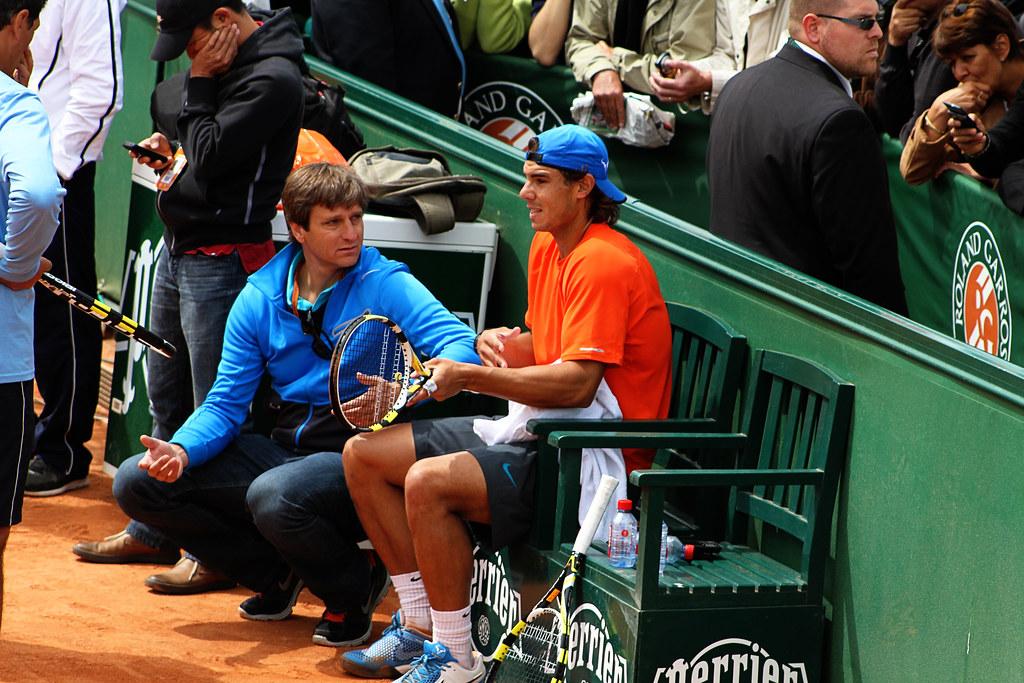Rafael Nadal and Carlos Costa