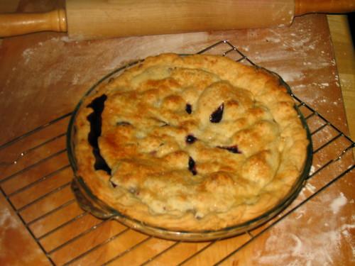 blueberry peach pie