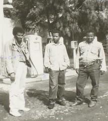 Infront of AGIP(Haftu, Teferi Teka & Alem Gidey)