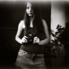 Foxe with her new holga