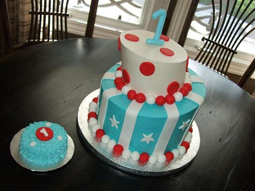 Birthday Cake With Photo Upload Free : Red, White, and Blue Tipsy Birthday Cake Flickr - Photo ...