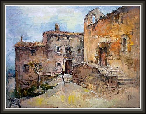 Pin s pintura solsones pinturas cuadros paisatges romanico - Pintores en lleida ...