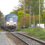 Amtrak arrives at Windsor, Vermont