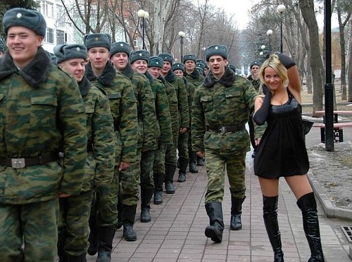 Soldiers & girl