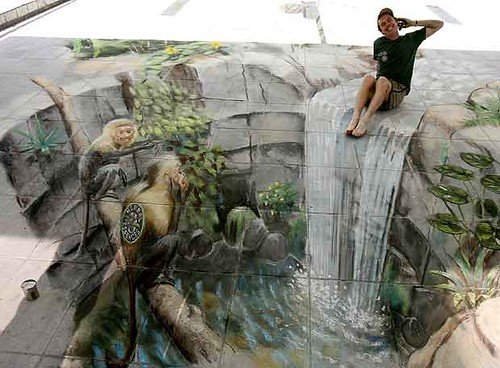 3D chalk drawings 5
