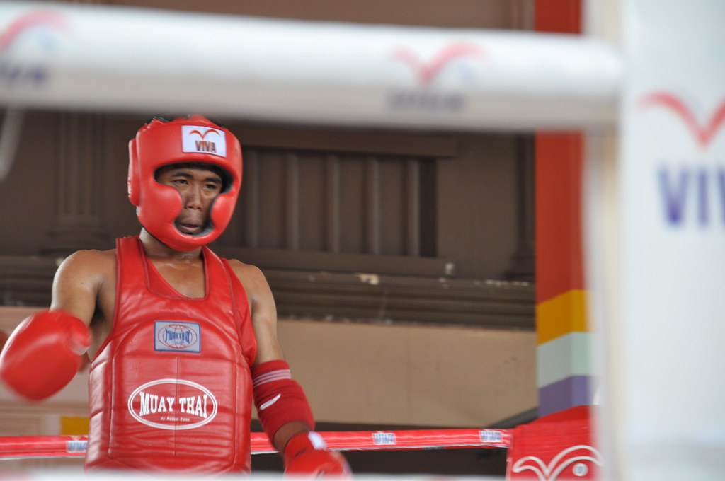 Thai boxing boxer