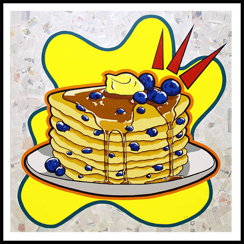 Blueberry Pancakes Clip Art