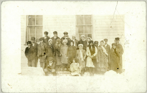 School picture in snow