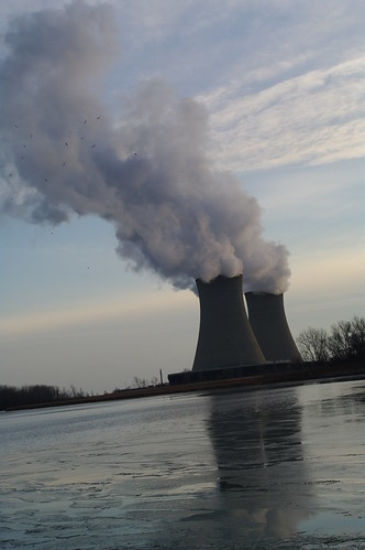Fermi 2 Nuclear Power Plant Cooling Towers