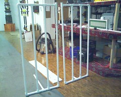 PVC framework for Glass Block Matrix