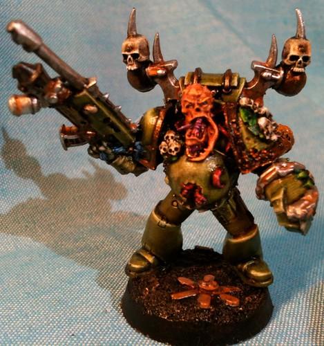 Plaguemarine Champion made with Forgeworld bits