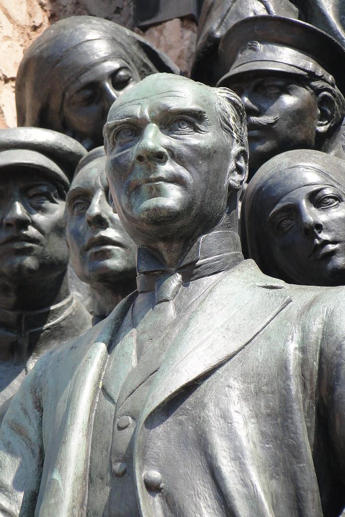 Statue of Kemal Ataturk - Taksim Square - Istanbul - Turkey
