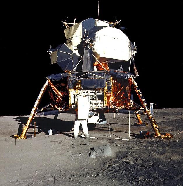 View of Apollo 11 on Lunar Surface (Virtual Tour - 10)