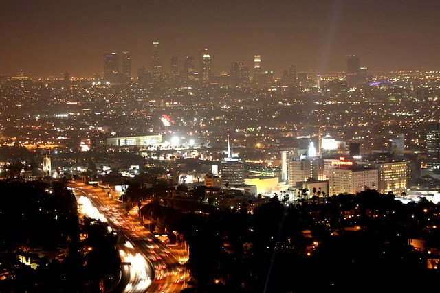 Mulholland Drive View Los Angeles Overlooking Hollywood
