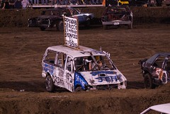automobile, racing, vehicle, sports, race, demolition derby, banger racing, dirt track racing, off road racing, motorsport, off-roading,
