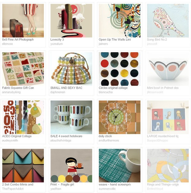 geometric colour, Etsy treasury curated by Emma Lamb