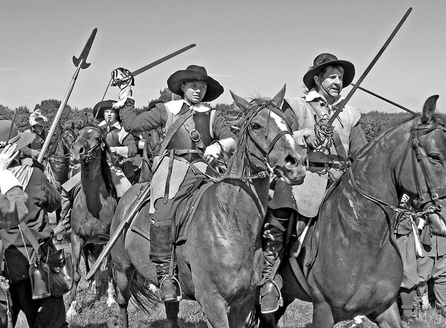 Cavaliers | With swords drawn, Royalist cavalry of the ...