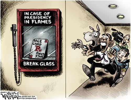 Obama race card cartoon