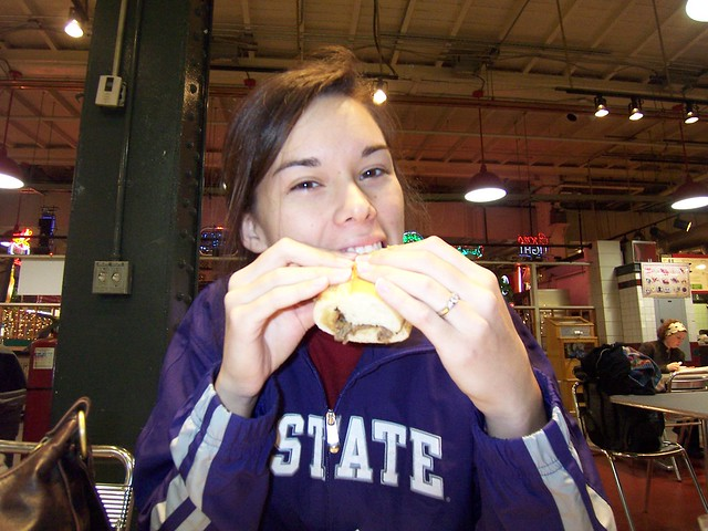 "anna's first ""real"" cheesesteak"