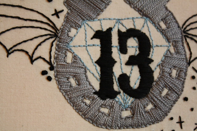 Lucky 13 embroidery