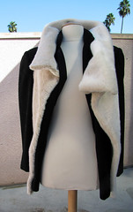 penguin(0.0), flightless bird(0.0), costume(0.0), textile(1.0), fur(1.0), wool(1.0), clothing(1.0), fur clothing(1.0), outerwear(1.0),