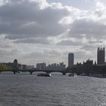 Houses of Parliament on the River Thames from the Hungerford Bridge