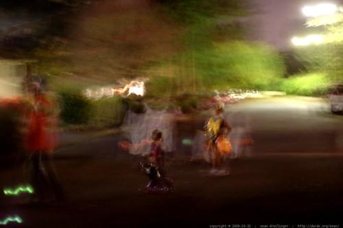 blurry halloween street scene    MG 7343