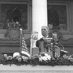 United States Secretary of War George H. Dern at the Inauguration of the Commonwealth Government of the Philippines on the steps of the Legislative Building, Manila, Philippines, November 15, 1935