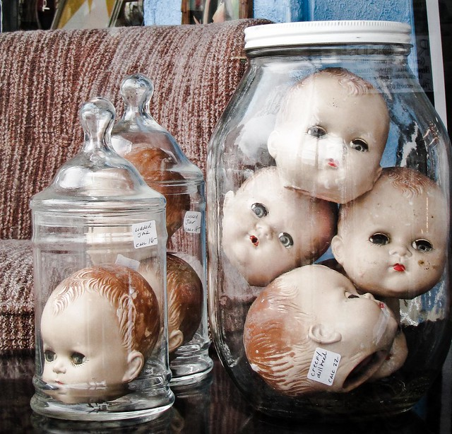 Creepy doll head a steal at 22 flickr photo sharing for Heads in jar