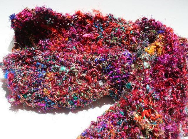 Free Knitting Pattern for Recycled Silk Yarn from www.darngoodyarn.com Flic...
