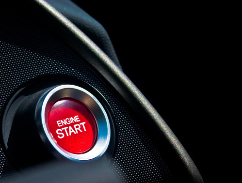 Red button that says Engine Start