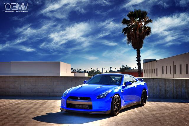 Blue GT-R