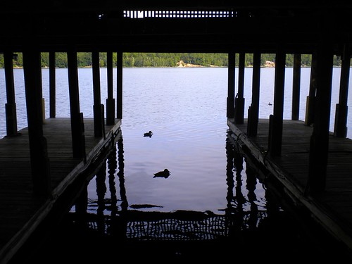 summer ny newyork dock shadows ducks adirondacks adk longlake covereddock