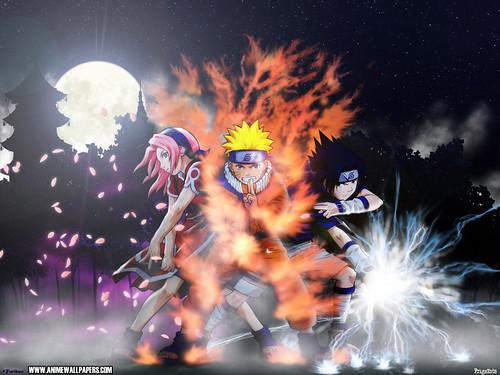 sasuke and sakura and naruto