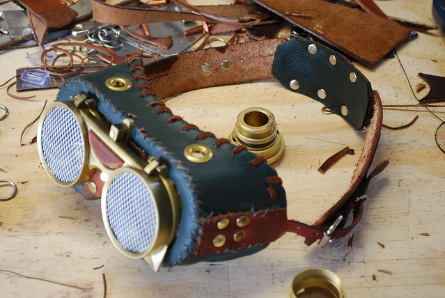 clear ski goggles  steampunk goggles