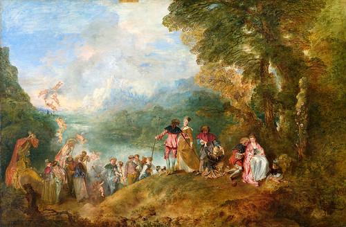 Antoine Watteau, Pilgrimage from Cythera,1717