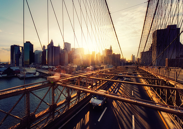 New York - Brooklyn Bridge Sunset 2