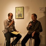 David Downs interviewing Greg Kot about music at Creative Commons Salon